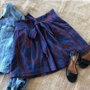 Anthropologie Idra Tweed Bowtie Skirt
